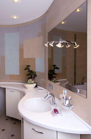 interior moderna casa de banho