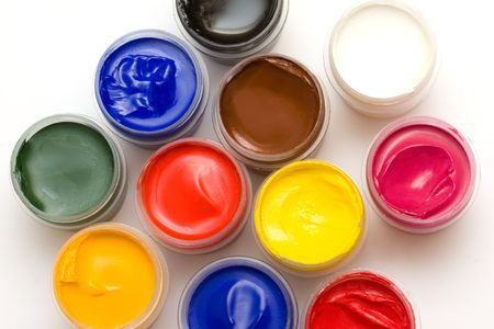 gouache paint photo