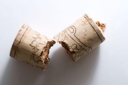 broken wine cork photo