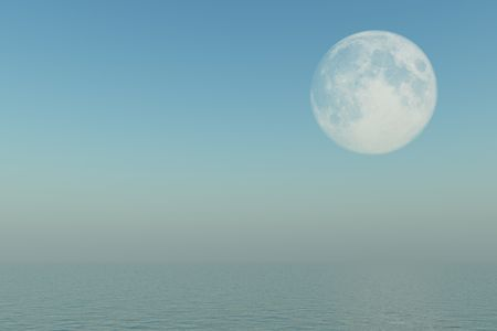The Moon over water photo
