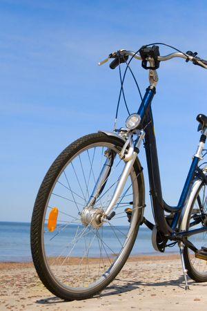 bike on the beach Stock Photo - 5386542