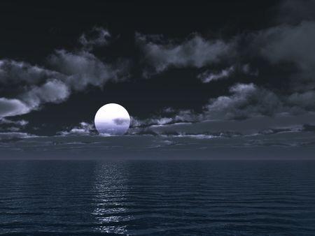 moonlit night   photo