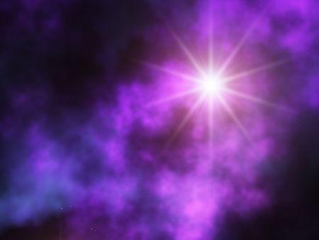 estrellas moradas: estrella  Foto de archivo