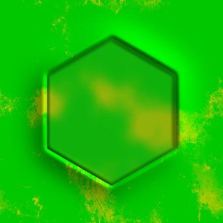 hexagonal: hexagonal frame Stock Photo