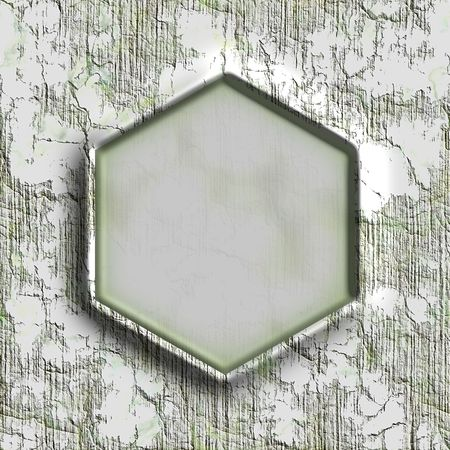 mildew: hexagonal frame Stock Photo