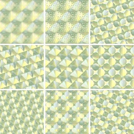 set of holograms seamless textures