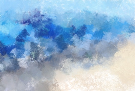 waters: Beach. Aquarell.