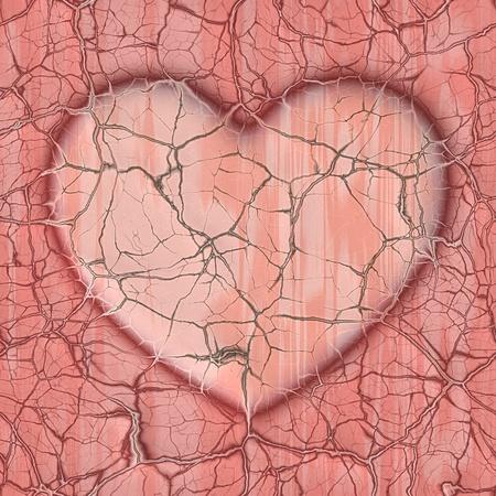 gebroken hart Stockfoto