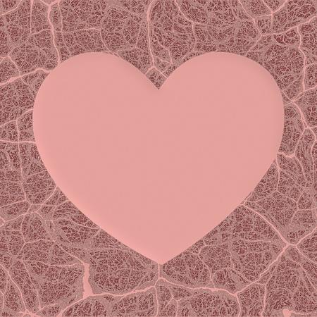 heart damage: broken heart background