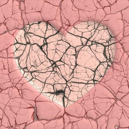 shatter: broken heart  Stock Photo