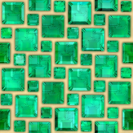 Emeralds. Seamless background.