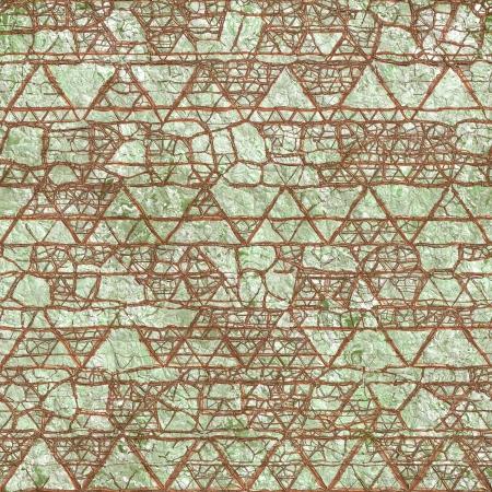 Old relief fresco. Seamless pattern. photo