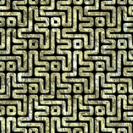 bricklaying: Labyrinth. Seamless background.
