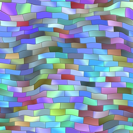 Curved Tile. Seamless texture. photo