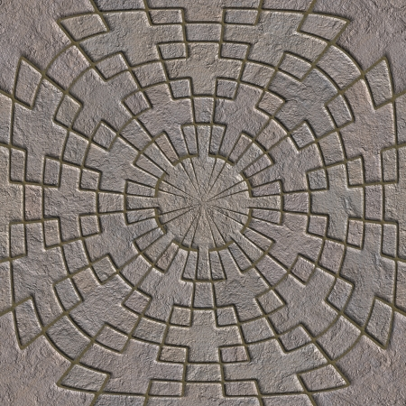 Stone pavement. Seamless pattern.  photo