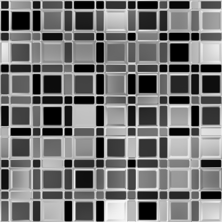 Metallic tiles Seamless background.  photo