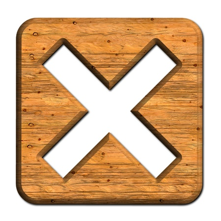 unchecked: Wooden Cross sign
