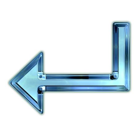 backspace: Glass arrow