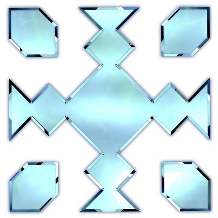 Glass ornament. Stock Photo - 21129103