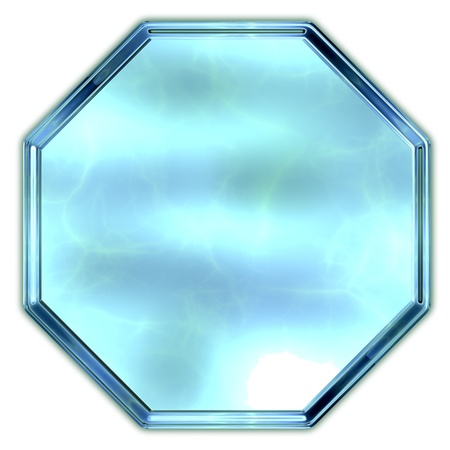 octagon: Glass octagon. Stock Photo