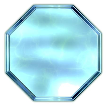 octagon: Glass octagon. Stock Photo