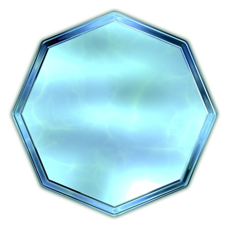 octagon: Octagon. Glass shape.