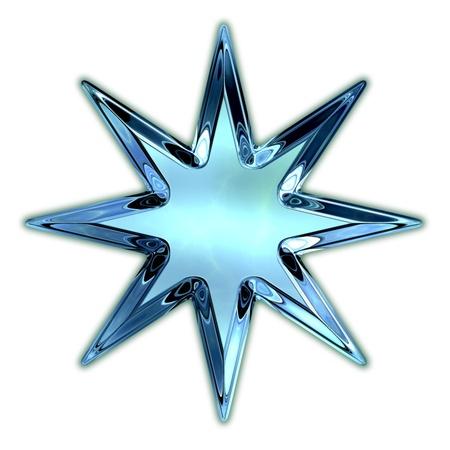 Glass star. photo