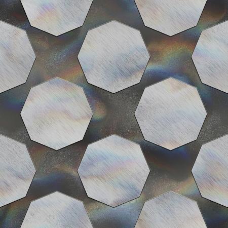 octagon: Octagon. Crystal pattern. Seamless texture.