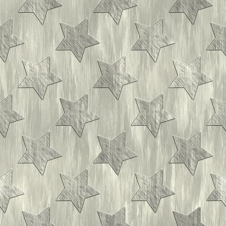 treadplate: Star. Metal pattern. Seamless texture.  Stock Photo