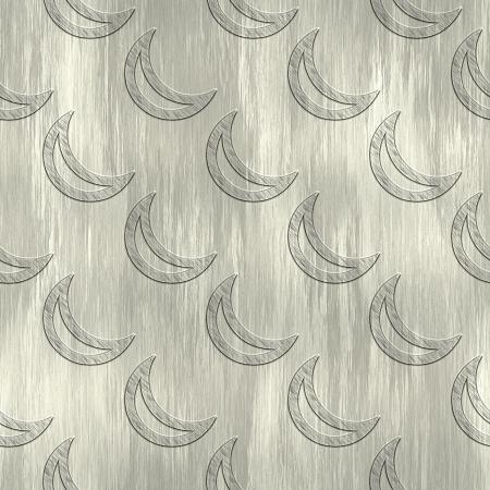 treadplate: Moon. Metal pattern. Seamless texture.