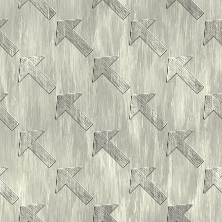 Arrow. Metal pattern. Seamless texture.  photo
