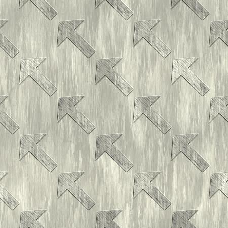 treadplate: Arrow. Metal pattern. Seamless texture.