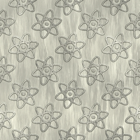 Atom. Metal pattern. Seamless texture.  photo