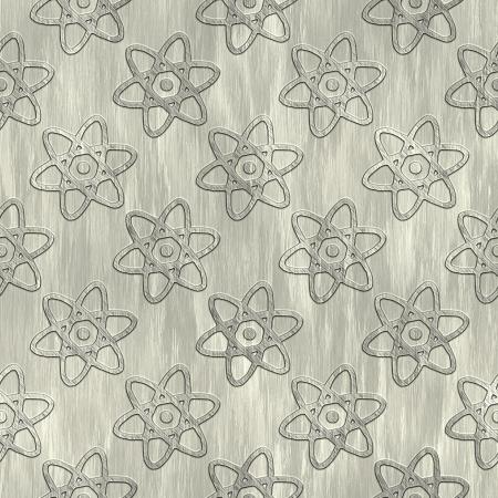 treadplate: Atom. Metal pattern. Seamless texture.