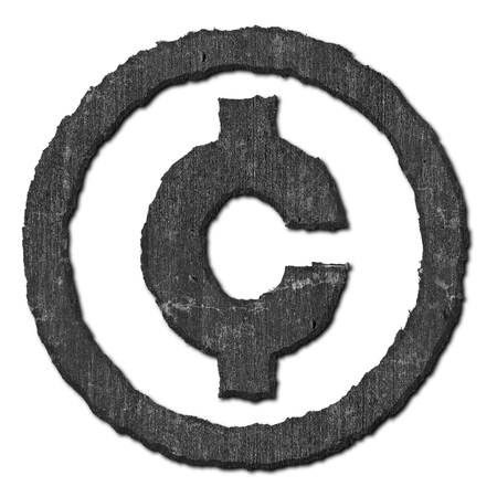 cent: American cent sign. Stone pattern. Stock Photo