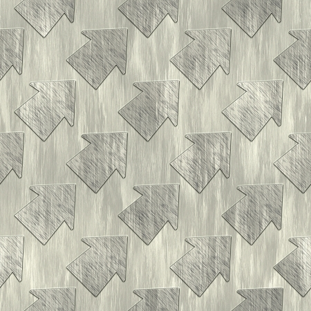 treadplate: Arrows. Metal pattern. Seamless texture.  Stock Photo