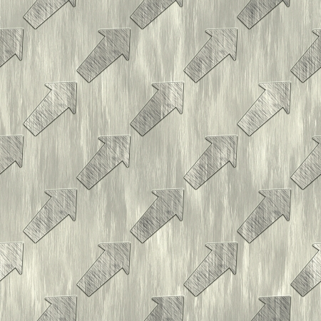 Arrows. Metal pattern. Seamless texture.  photo