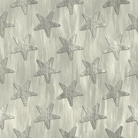 Stars. Metal pattern. Seamless texture.  Stock Photo