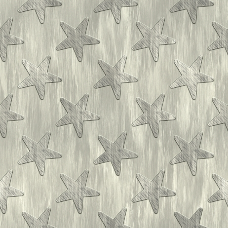 treadplate: Stars. Metal pattern. Seamless texture.  Stock Photo