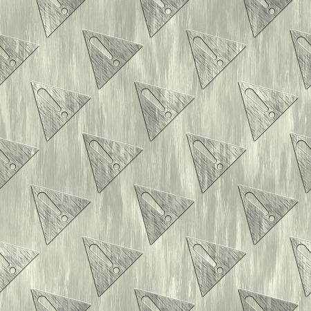 treadplate: Warning Sign. Metal pattern. Seamless texture.