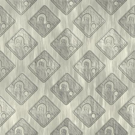 treadplate: Question sign. Metal pattern. Seamless texture.