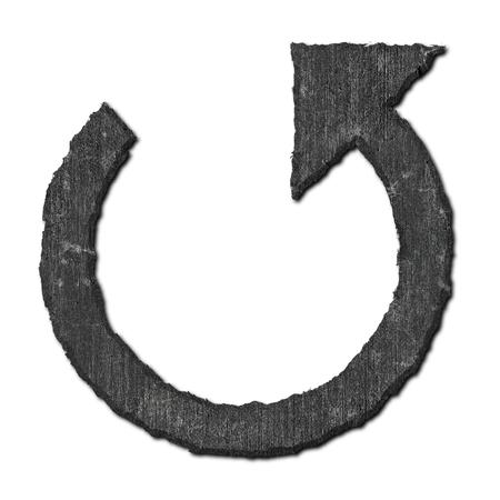 Reload arrow. Stone pattern.