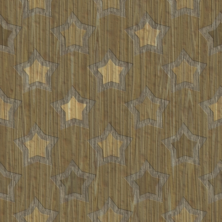 Stars. Wood carved. Seamless texture. photo