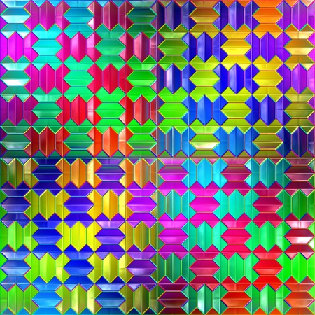 spectral: Spectral colored blocks. Seamless background.