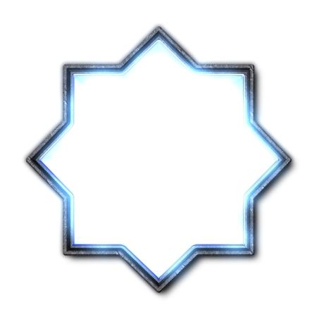 illuminated: Illuminated star Stock Photo