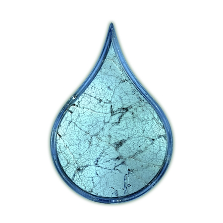 cracked glass: Drop. Cracked glass symbol.