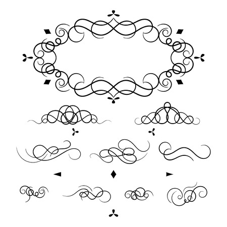 decorative elements for a frame and design Illustration