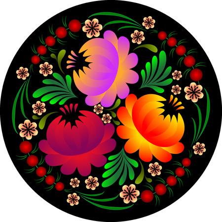 petrikovka: original flower pattern in petrikovsky style