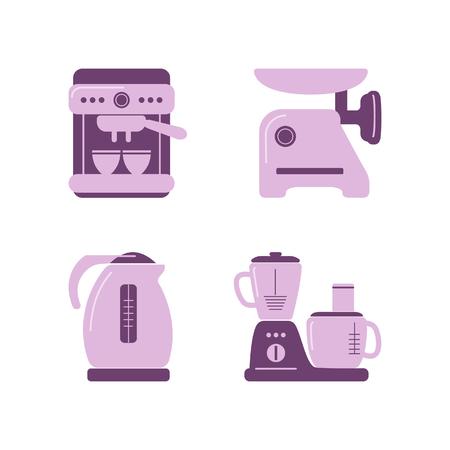 kitchen appliances: Kitchen appliances. Flat icon set
