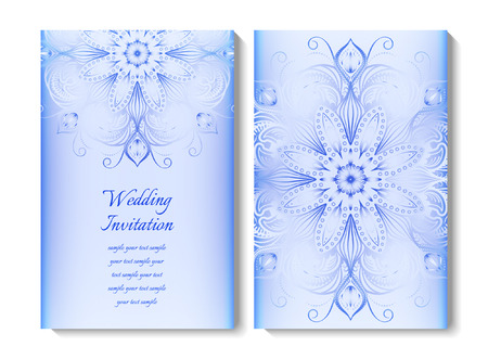 obscure: Wedding card or invitation. Round ornamental pattern. EPS 10 contains transparency Illustration